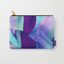 Multicolor Stripe Textile 6 Carry-All Pouch