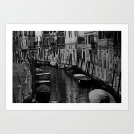 Road to the Convent Black & White Art Print
