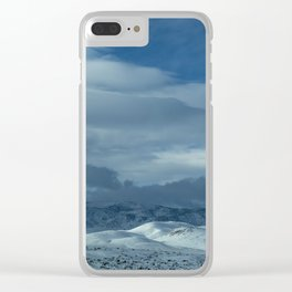 Snowy Hills Clear iPhone Case