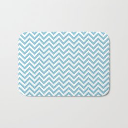 blue chevron Bath Mat