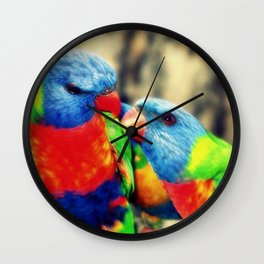 Rainbow Lorikeets Wall Clock