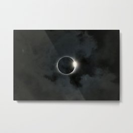 Eclipse 2017 - Diamond Ring Metal Print