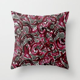 Vintage Lace Watercolor Halloween Throw Pillow