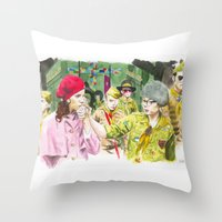 moonrise kingdom Throw Pillows featuring moonrise kingdom by jgart
