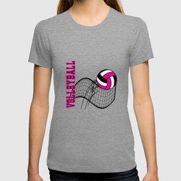 Volleyball Sport Game - Net - Hot Pink T-shirt
