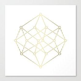 golden line . prism art Canvas Print
