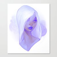 loish Canvas Prints featuring visage - lilac by loish