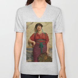 "John William Godward ""Eurypyle"" Unisex V-Neck"