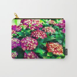 Garden Hydrangea - Raspberry Pink and Lavender Carry-All Pouch