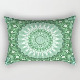 Emerald Green Mandala Rectangular Pillow