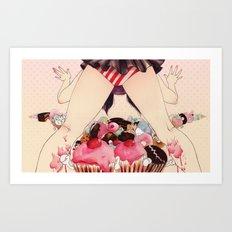 All I ever dream of is sugar Art Print