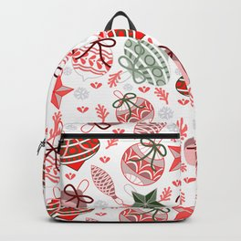 Colorful Christmas Ornaments Backpack