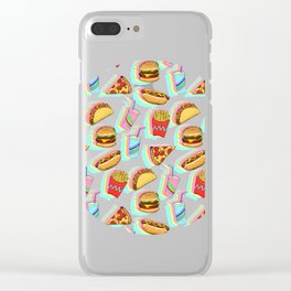 Rainbow Fast Food Clear iPhone Case