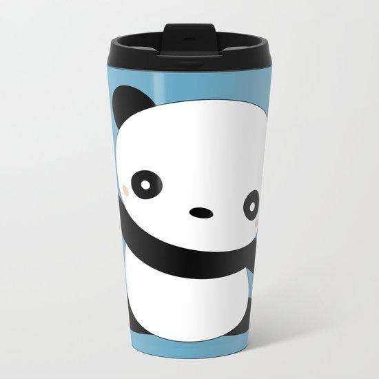 Kawaii Cute Panda Bear Metal Travel Mug