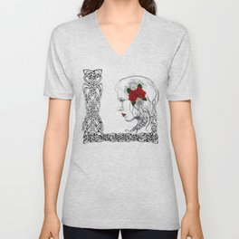 Celtic Rose Unisex V-Neck
