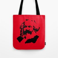 marx Tote Bags featuring Marx by muffa