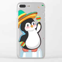 Cool Penguin Cinco de Mayo T Shirt Clear iPhone Case