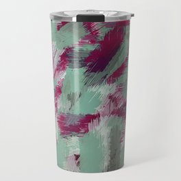 green red and purple painting texture abstract background Travel Mug