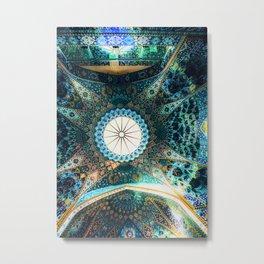 Arabian Blue Shrine Metal Print