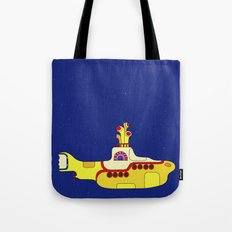 We all live in a yellow submarine Tote Bag