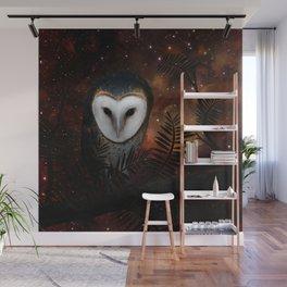 Barn owl at night Wall Mural