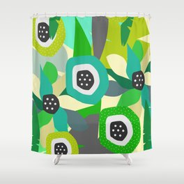 Bright tropical vibe Shower Curtain