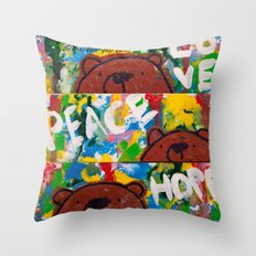 Wood Dominoes - Colour - #2 Throw Pillow