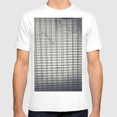 Grid MEDIUM Mens Fitted Tee White