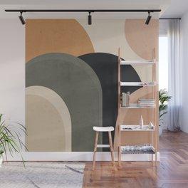 abstract minimal sunrise Wall Mural