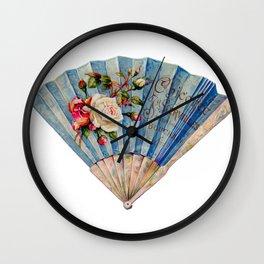 Fan Fancy (blue)   Wall Clock