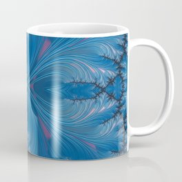 Winter Dusk Mirrored - Fractal Art Coffee Mug