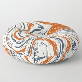 blue and orange marble abstract texture Pattern Floor Pillow