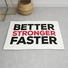 Better Stronger Faster Gym Quote Rug