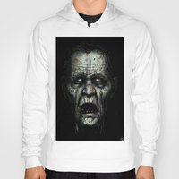 zombie Hoodies featuring Zombie by Havard Glenne