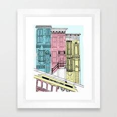 San Francisco Victorian Houses Framed Art Print