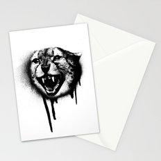 Cheetah Spray Paint Stationery Cards