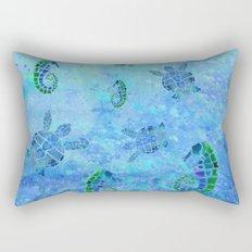 Sea Turtle Batik Rectangular Pillow