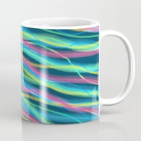 80s Mugs featuring 80s Ripple by Beth Thompson
