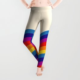 Wavy retro rainbow Leggings
