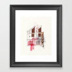 Garage door of the better Framed Art Print