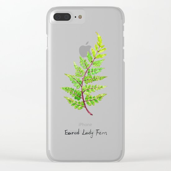 Eared Lady Fern Clear iPhone Case