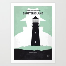 No513 My Shutter Island minimal movie poster Art Print