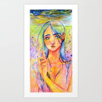 Ms.Blue Art Print