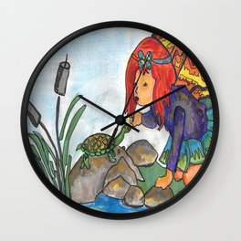 The Turtle Fairy Wall Clock