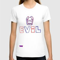 evil T-shirts featuring Evil. by The Fort by The Smoking Roses!