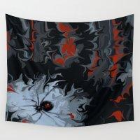 black widow Wall Tapestries featuring widow by Shea33