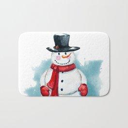 Fat snowman Bath Mat