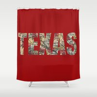 texas Shower Curtains featuring Texas by dawne photography