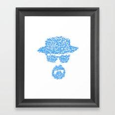 Breaking blue Framed Art Print