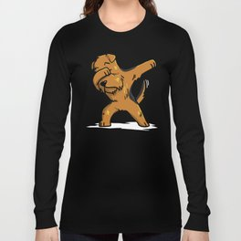 Funny Dabbing Airedale Terrier Dog Dab Dance Long Sleeve T-shirt